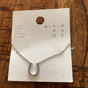 3/$10 NEW silver plate hotshot necklace